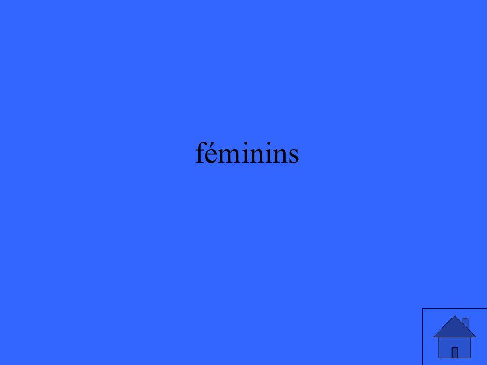 féminins
