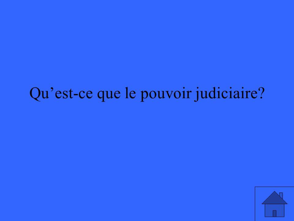 Quest-ce que le pouvoir judiciaire?