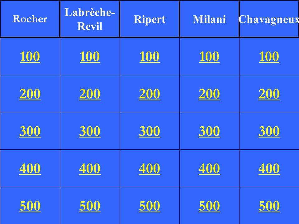 200 300 400 500 100 200 300 400 500 100 200 300 400 500 100 200 300 400 500 100 200 300 400 500 100 Rocher Labrèche- Revil RipertMilaniChavagneux