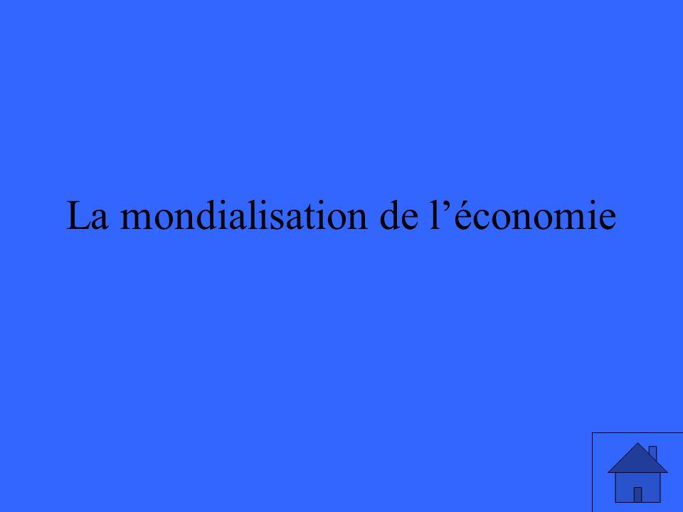 La mondialisation de léconomie