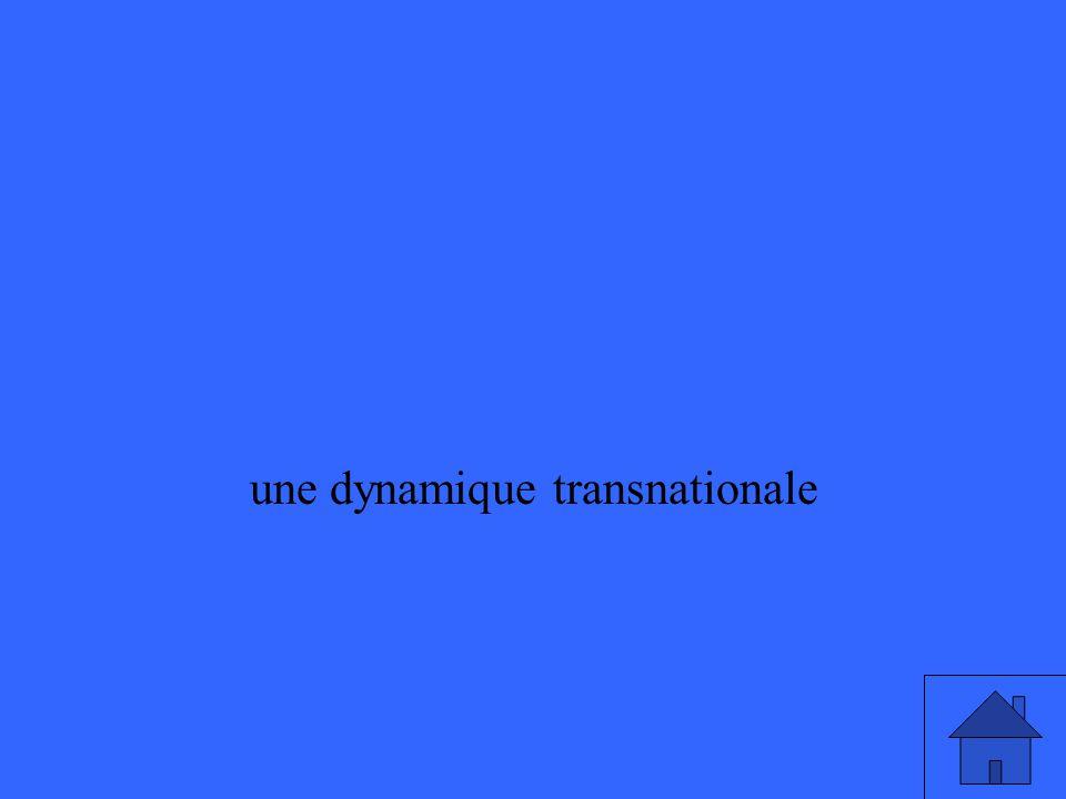 une dynamique transnationale