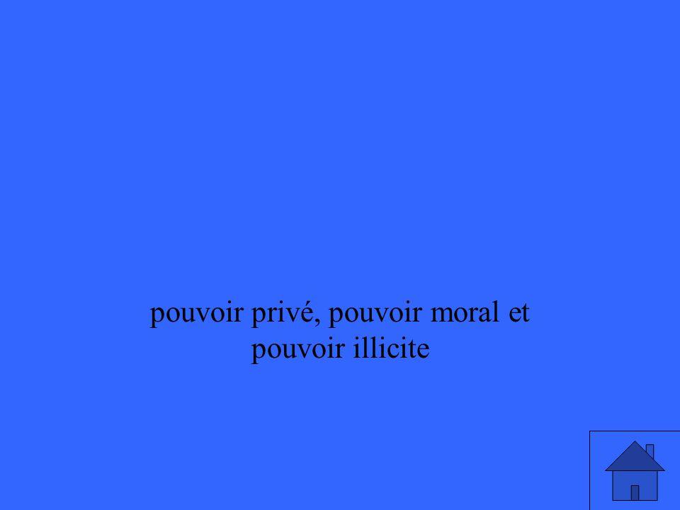 pouvoir privé, pouvoir moral et pouvoir illicite