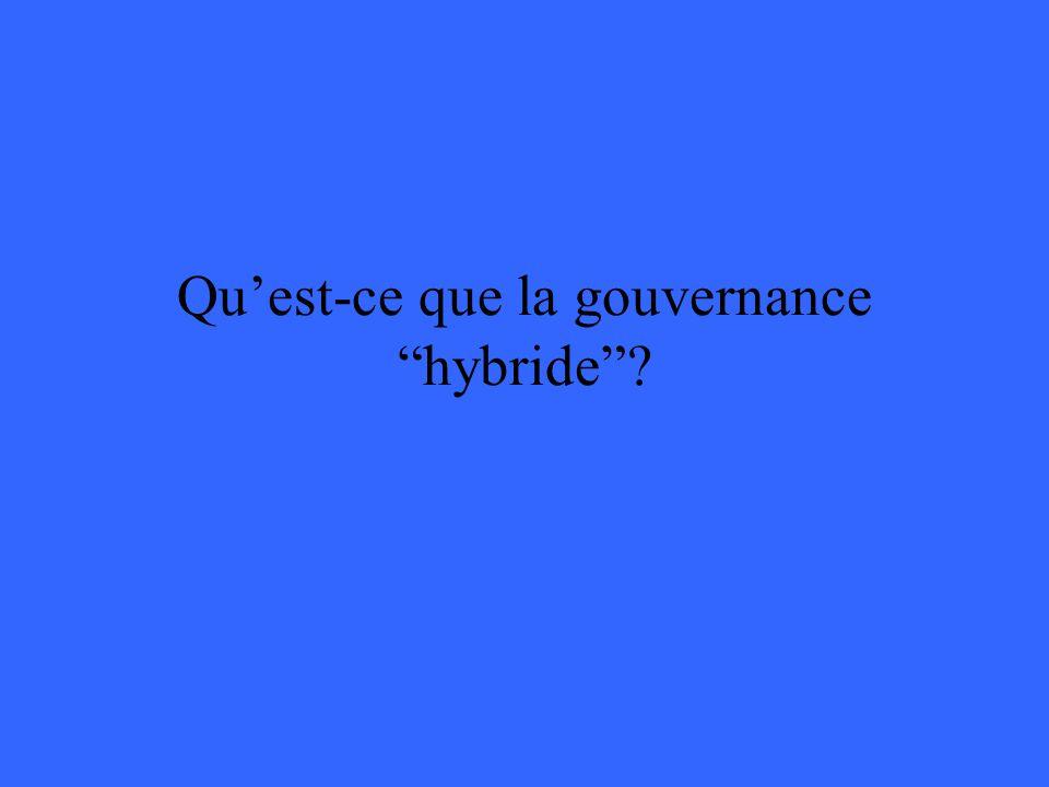 Quest-ce que la gouvernance hybride?