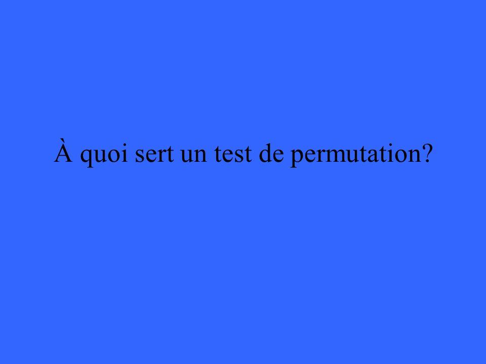 À quoi sert un test de permutation?