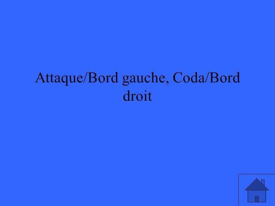 Attaque/Bord gauche, Coda/Bord droit