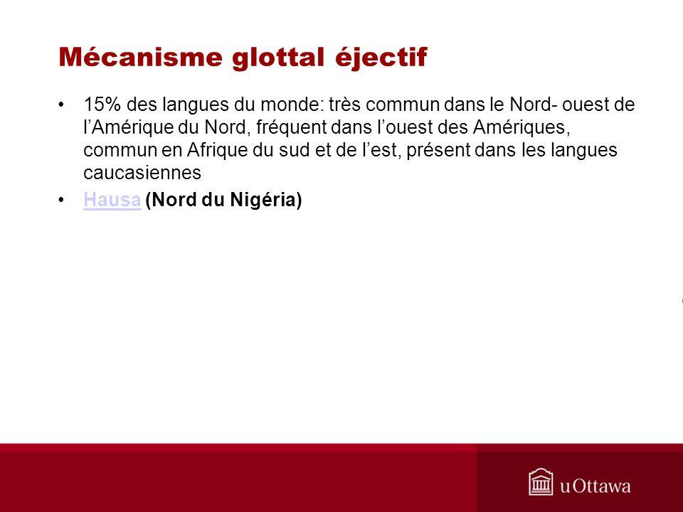 15% des langues du monde: très commun dans le Nord- ouest de lAmérique du Nord, fréquent dans louest des Amériques, commun en Afrique du sud et de les