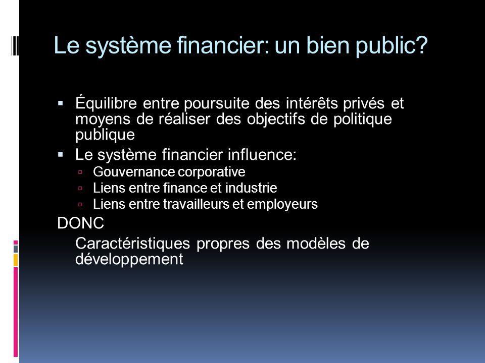 Le système financier: un bien public.