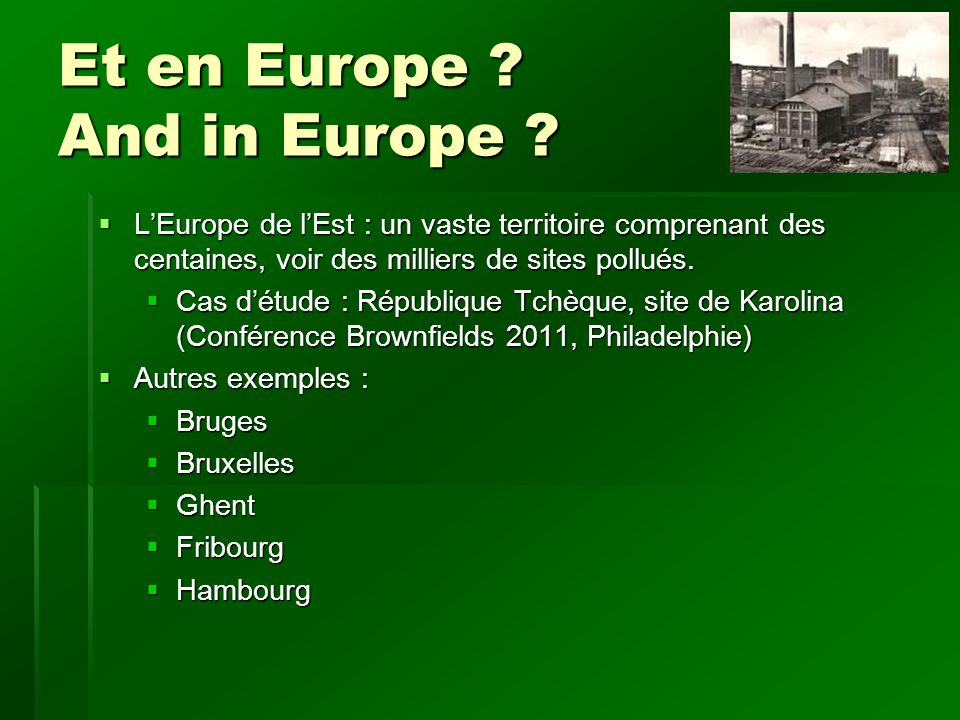 Et en Europe . And in Europe .