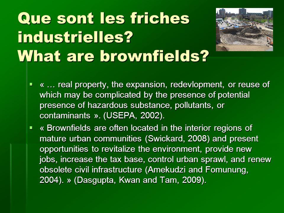 Friches industrielles vs.Terrains Verts Brownfields vs.