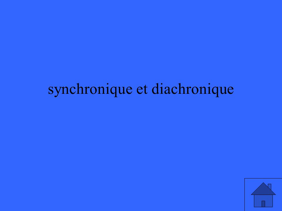 synchronique et diachronique