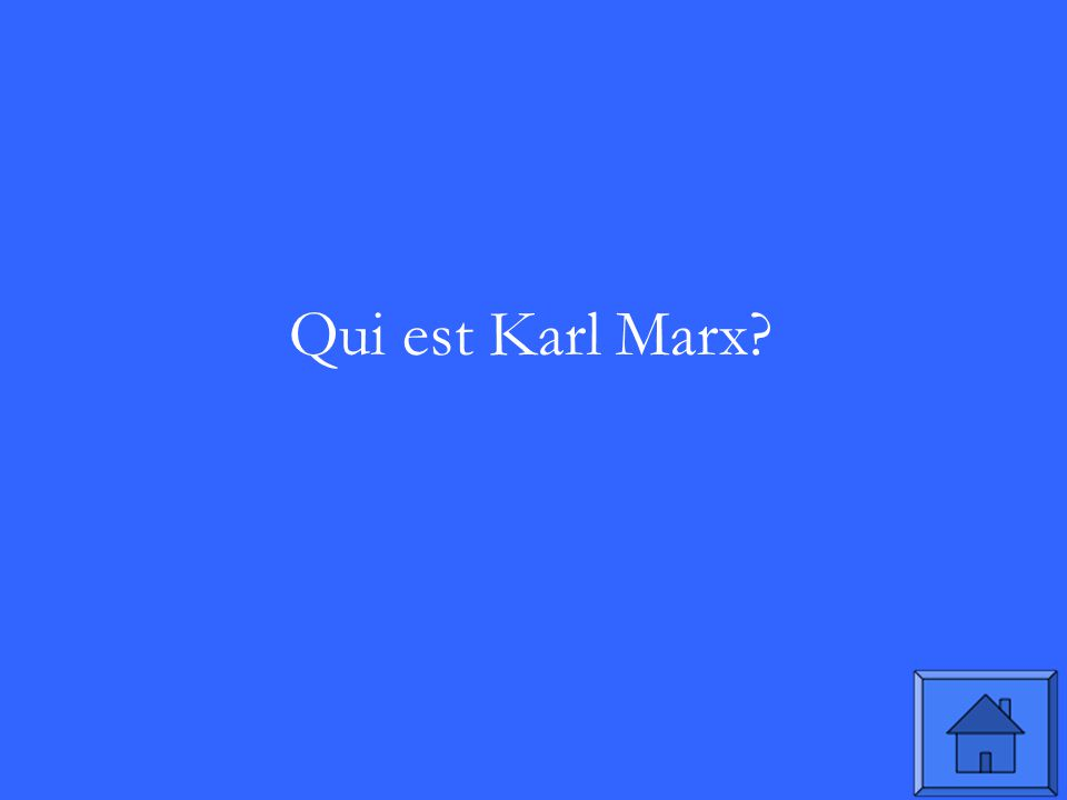 Qui est Karl Marx?