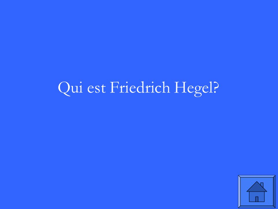 Qui est Friedrich Hegel?