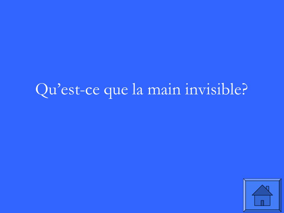 Quest-ce que la main invisible
