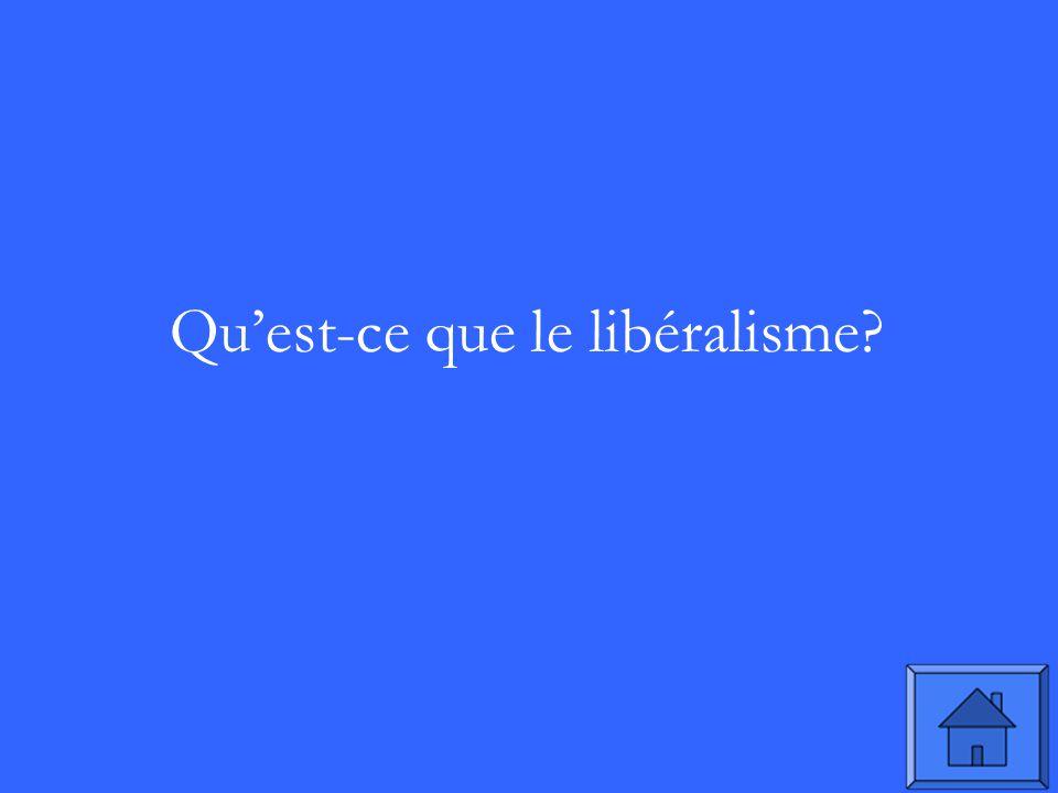 Quest-ce que le libéralisme?