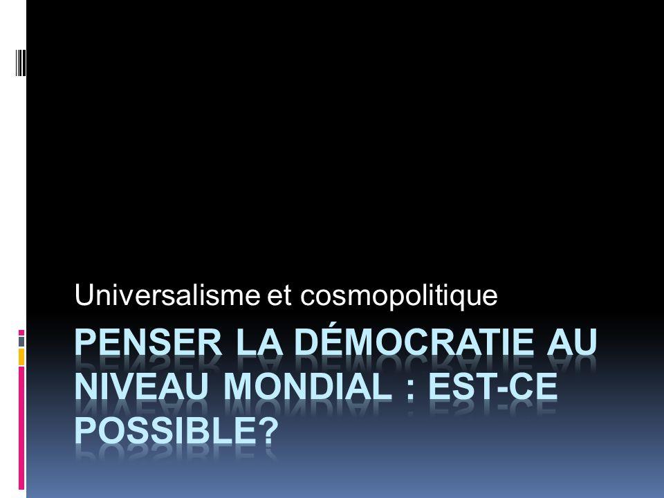 Universalisme et cosmopolitique