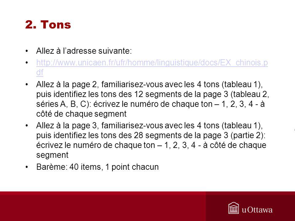 2. Tons Allez à ladresse suivante: http://www.unicaen.fr/ufr/homme/linguistique/docs/EX_chinois.p dfhttp://www.unicaen.fr/ufr/homme/linguistique/docs/