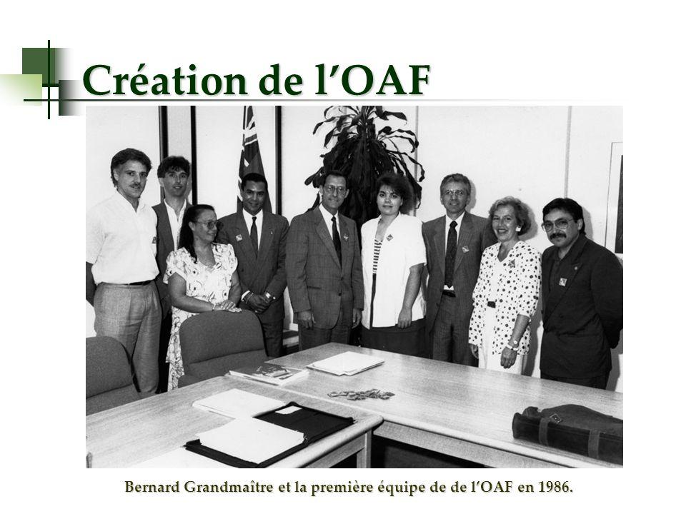 Création de lOAF Bernard Grandmaître et la première équipe de de lOAF en 1986.
