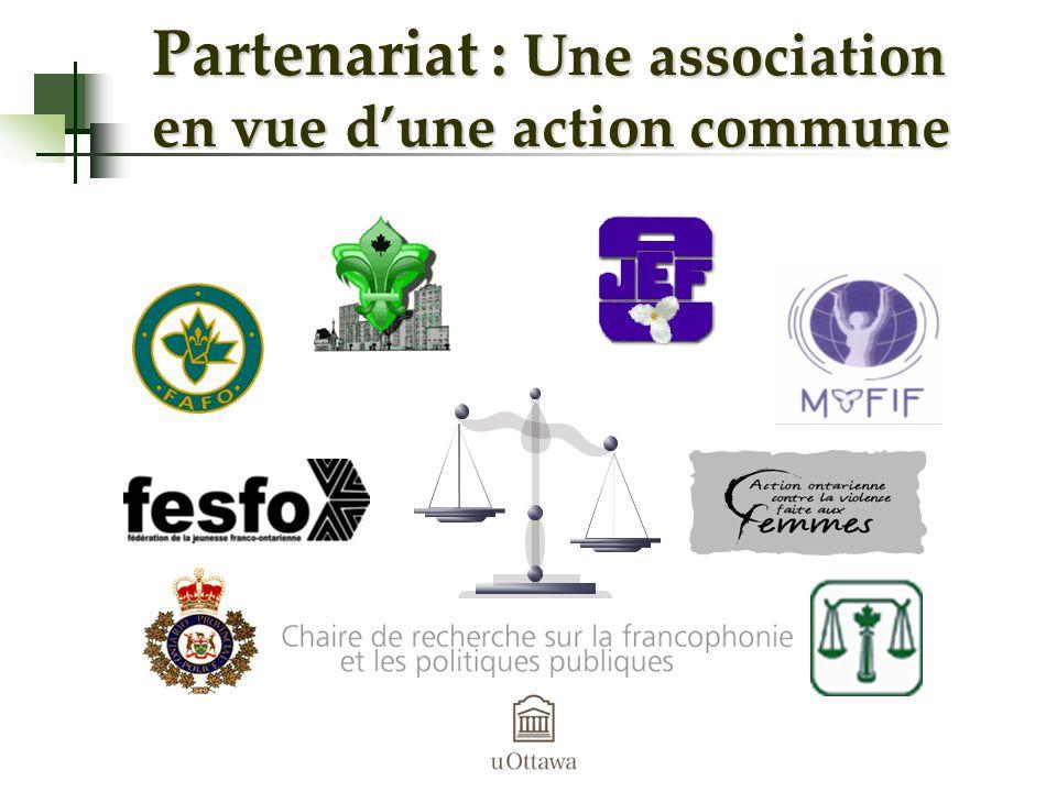 Partenariat : Une association en vue dune action commune