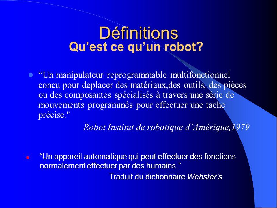 Au tout début La notion davoir des machines qui travaillent pour nous pour accomplir des taches a commencé en 384-322 BC avec Aristote.