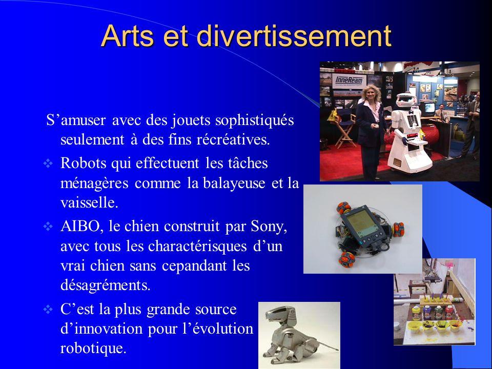 Arts et divertissement Samuser avec des jouets sophistiqués seulement à des fins récréatives. Robots qui effectuent les tâches ménagères comme la bala