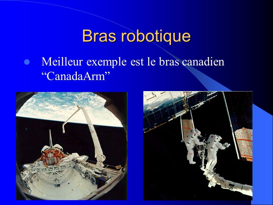 Bras robotique Meilleur exemple est le bras canadien CanadaArm