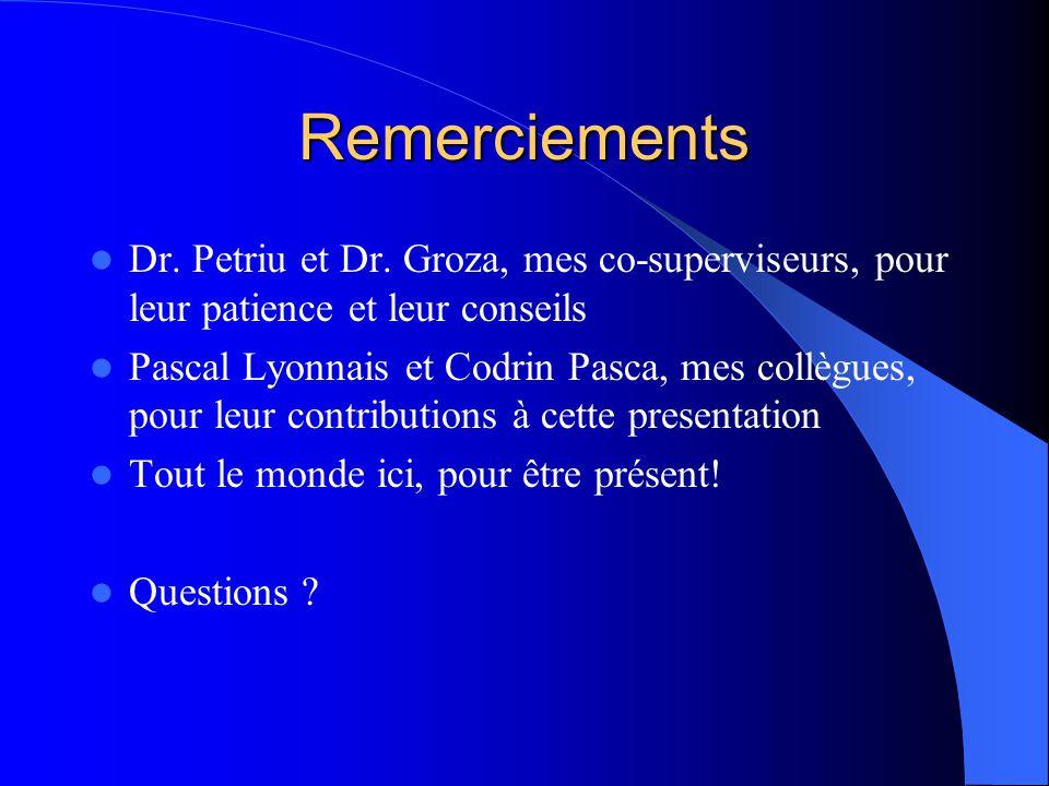 Remerciements Dr. Petriu et Dr. Groza, mes co-superviseurs, pour leur patience et leur conseils Pascal Lyonnais et Codrin Pasca, mes collègues, pour l