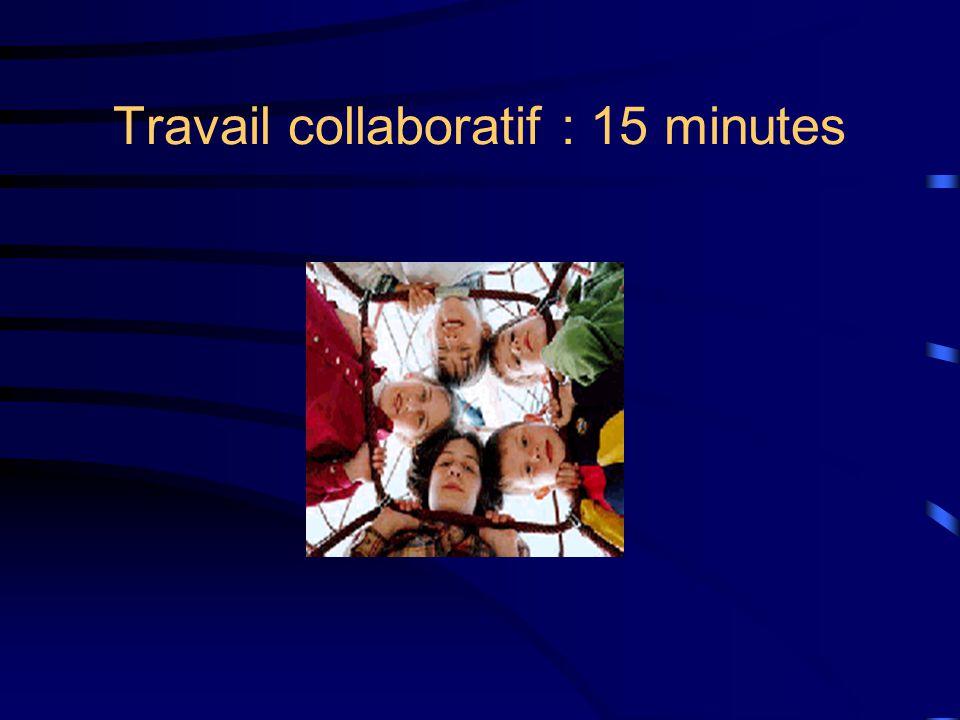 Travail collaboratif : 15 minutes