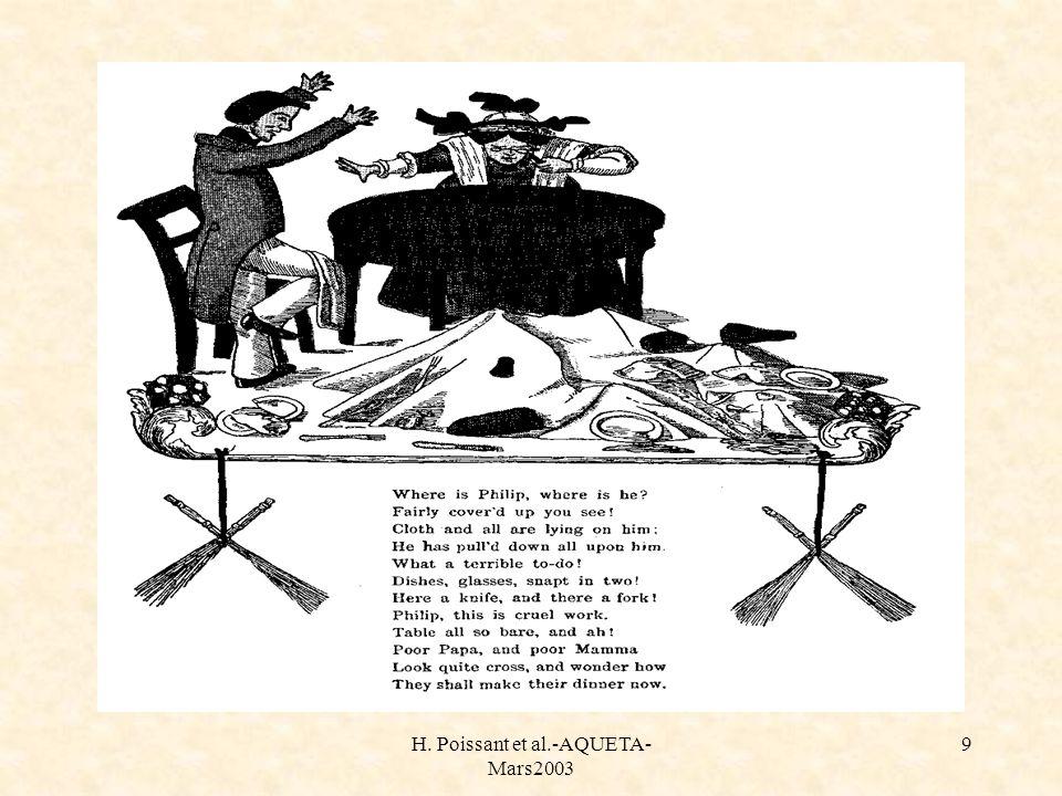 H. Poissant et al.-AQUETA- Mars2003 9 Histoire de philippe
