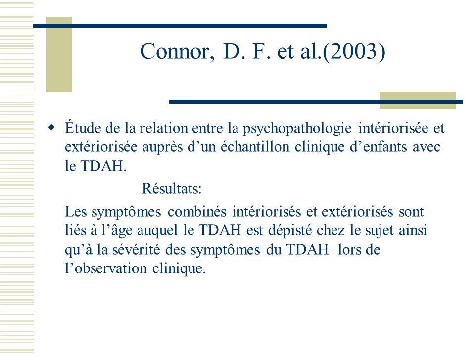 Il est essentiel que ces conditions soient identifiées en tant quidentités distinctes et non pas comme une composante dun cas extrême du TDAH.