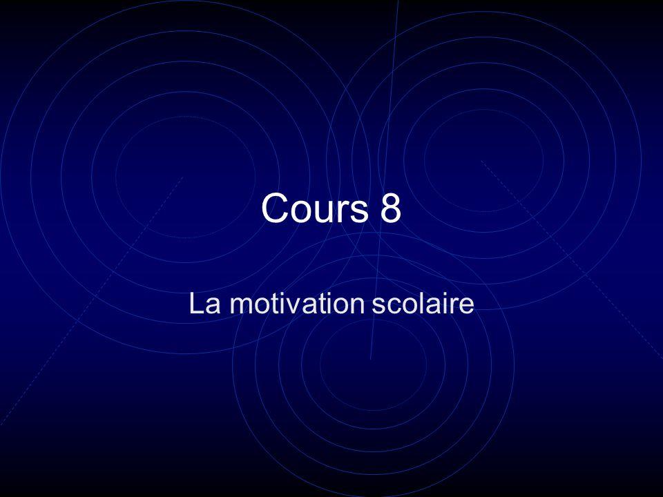 Objectifs: à la fin du cours vous aurez établi une définition opérationnelle de la motivation.