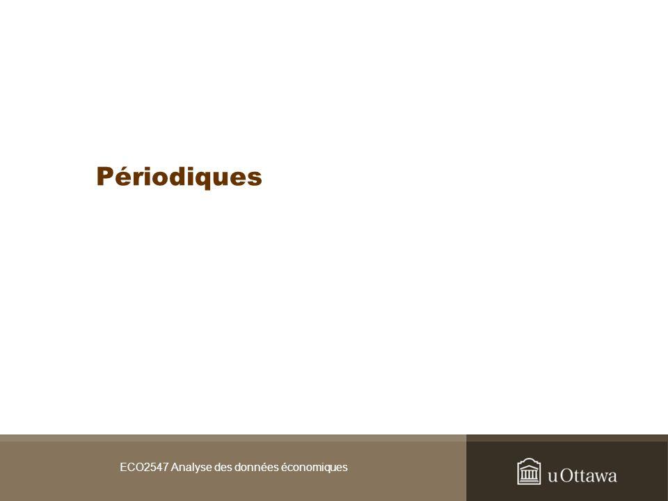 ECO2547 Analyse des données économiques Périodiques
