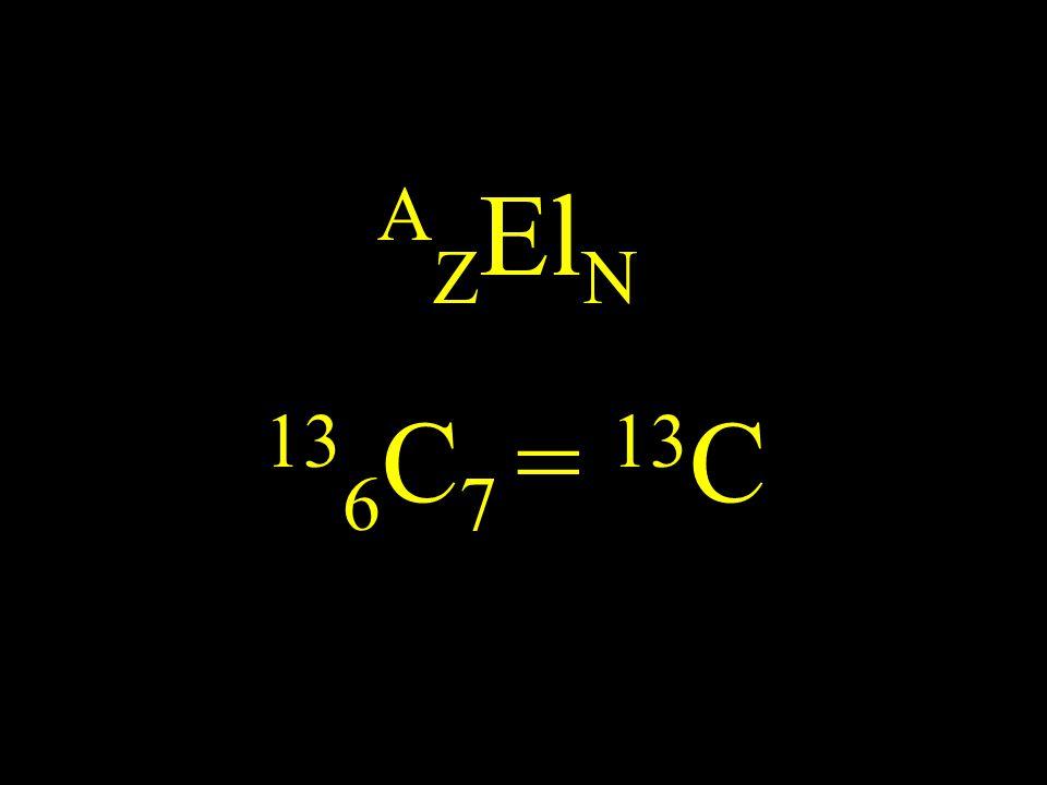 13 6 C 7 = 13 C A Z El N