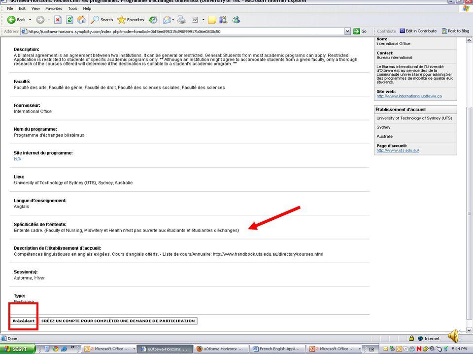 Guide de lutilisateur Introduction au système uOttawa-Horizons sortant@uOttawa.ca salbert@uOttawa.ca