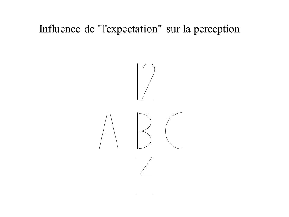 Influence de l expectation sur la perception