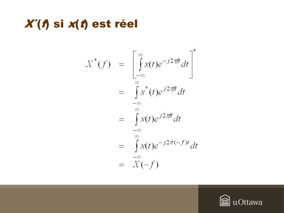 X * (f) si x(t) est réel