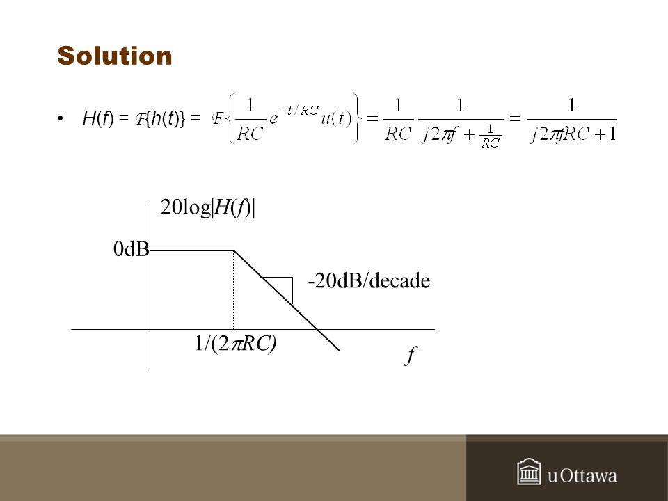 Exemple 2 Trouvez la sortie du circuit quand x(t) = Acos2 f o t.