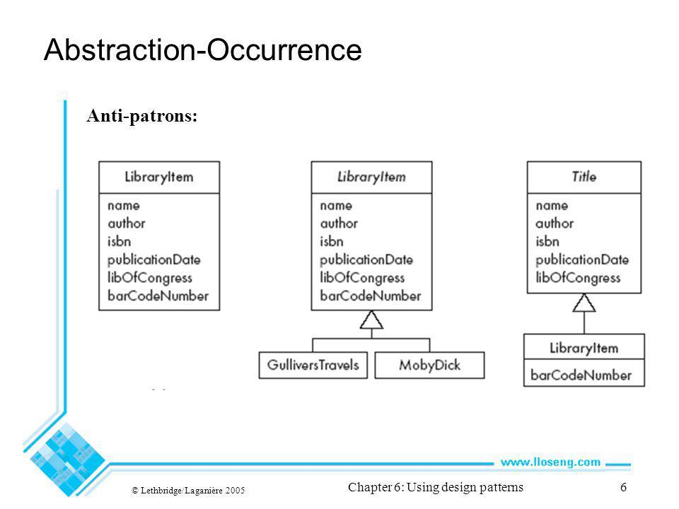 © Lethbridge/Laganière 2005 Chapter 6: Using design patterns37 Mandataire Solution:
