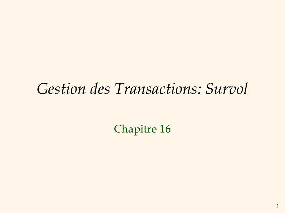 1 Gestion des Transactions: Survol Chapitre 16