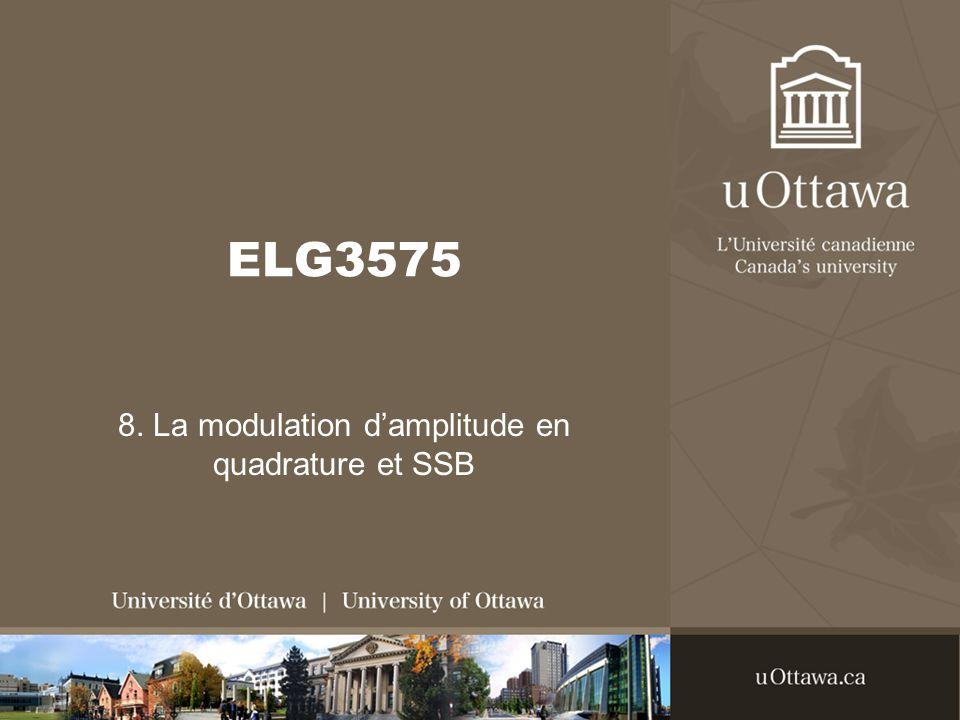 ELG3575 8. La modulation damplitude en quadrature et SSB