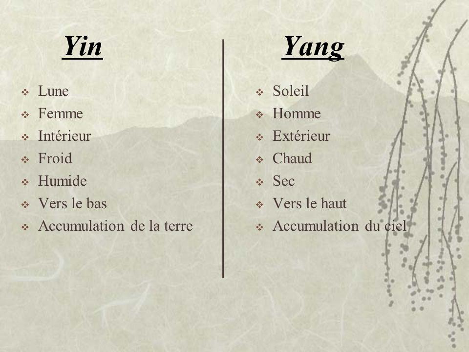 Yang Lune Femme Intérieur Froid Humide Vers le bas Accumulation de la terre Yin Soleil Homme Extérieur Chaud Sec Vers le haut Accumulation du ciel