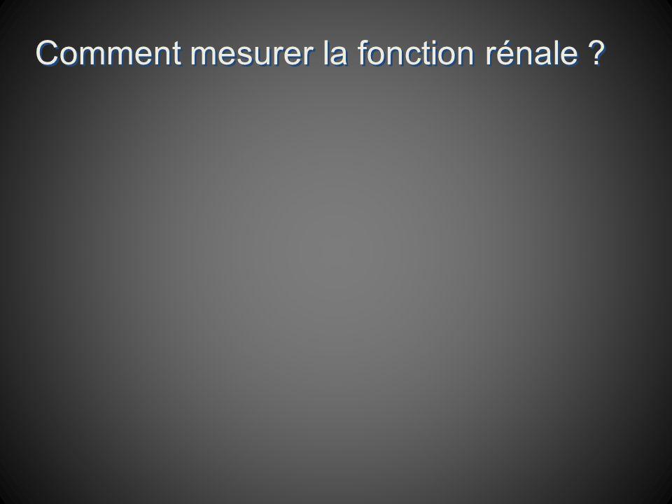Comment mesurer la fonction rénale ?
