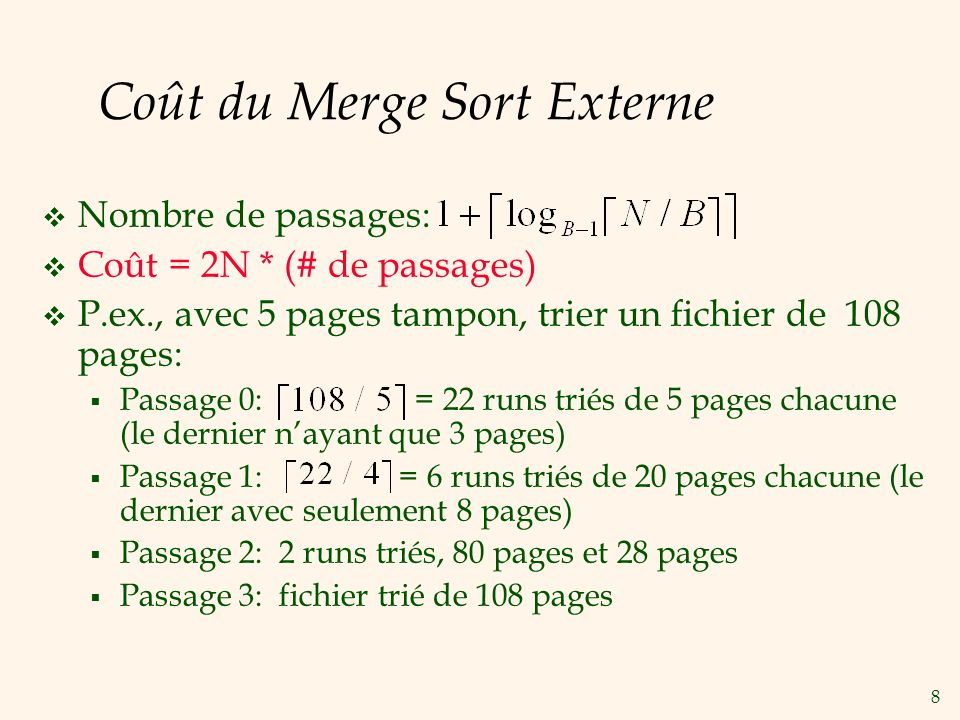9 Nombre de Passages du Triage Externe