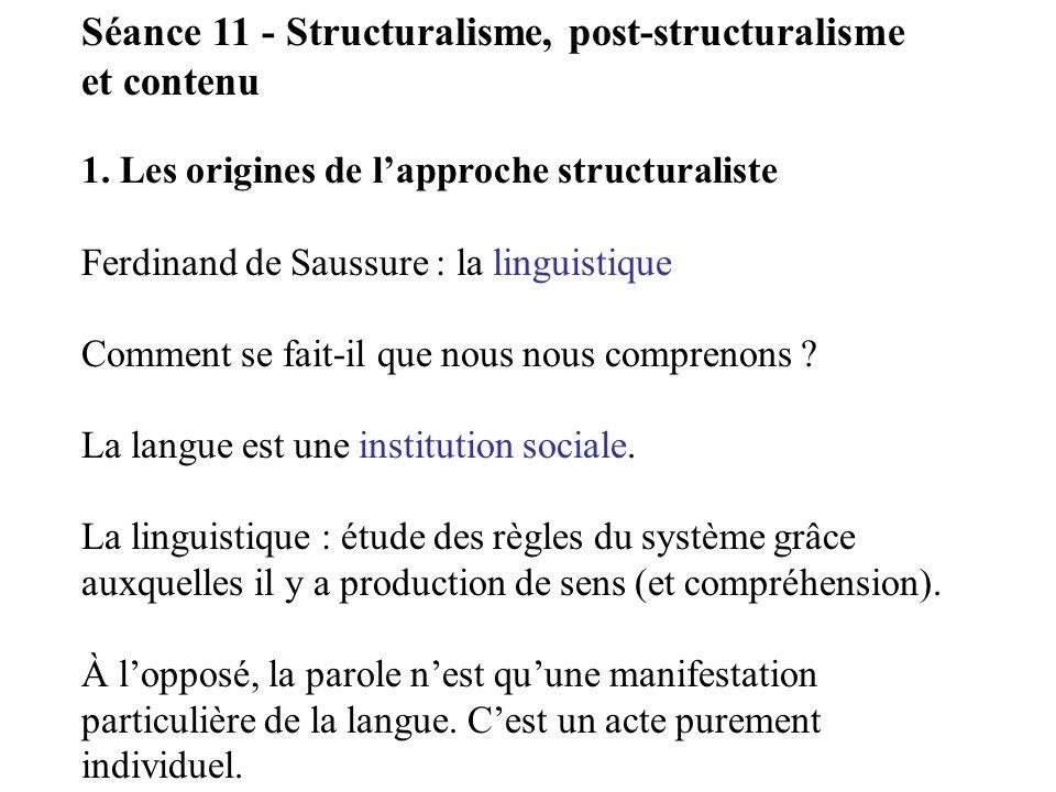Claude Lévy-Strauss : lanthropologie structurale.