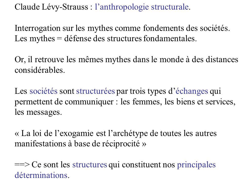 2.Les recherches structuralistes Les langues sont des structures.