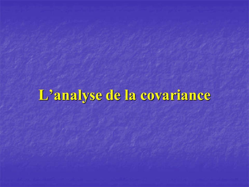 Lanalyse de la covariance