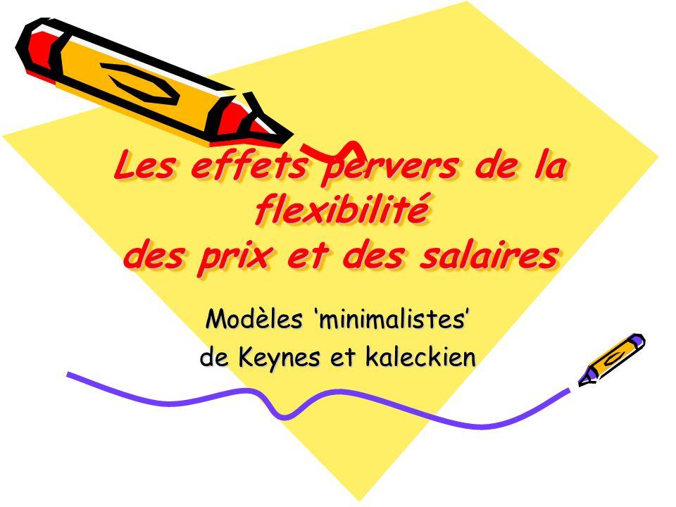 Les effets pervers de la flexibilité des prix et des salaires Modèles minimalistes de Keynes et kaleckien