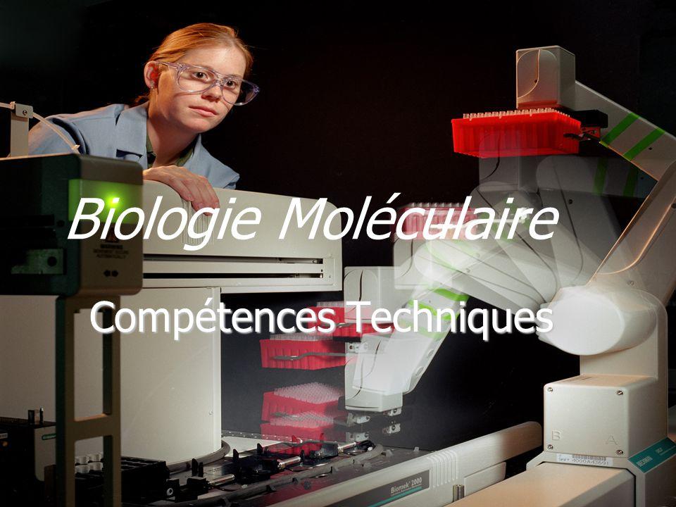 Biologie Moléculaire Compétences Techniques