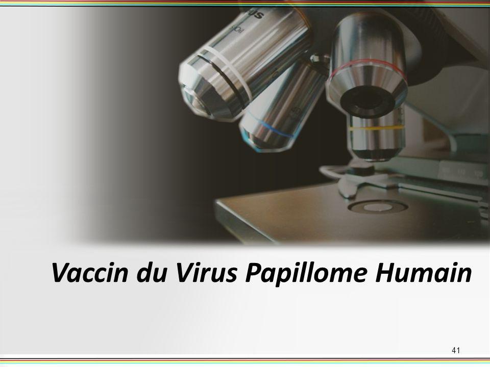 Vaccin du Virus Papillome Humain 41