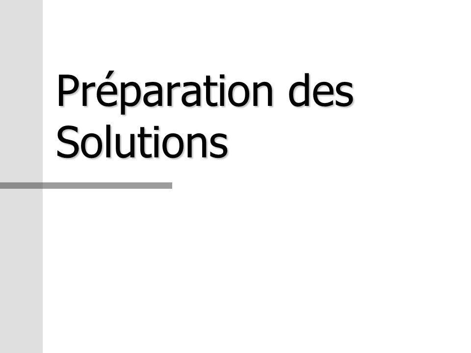 Préparation des Solutions