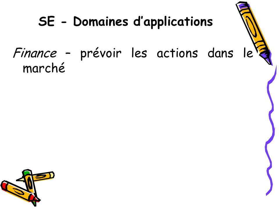 SE - Domaines dapplications Finance – prévoir les actions dans le marché